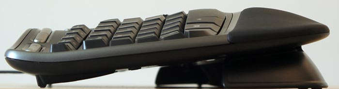 Keyboard sideview with front stand
