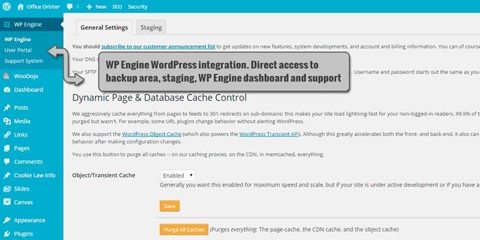WordPress WP Engine integration