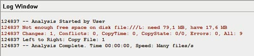 Error about insuffecient disk space