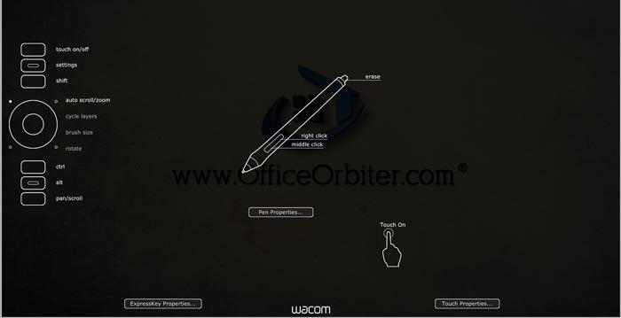 Wacom pro tablet driver screen overlay